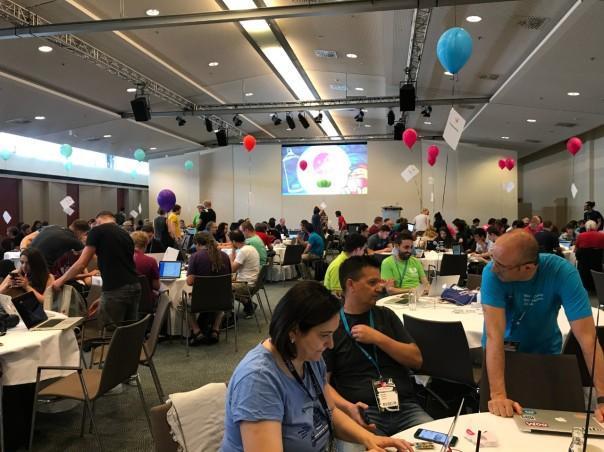 Salah satu ruang Contributor Day saat WCEU 2019 di Berlin