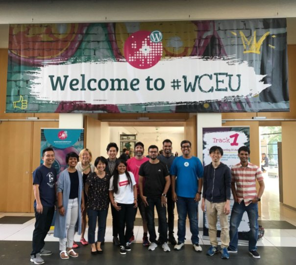 Sebagian penyelenggara WordCamp Asia 2020 di WCEU 2019